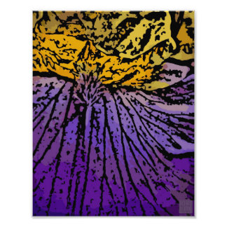 Flower Power in Purple and Yellow Photographic Print