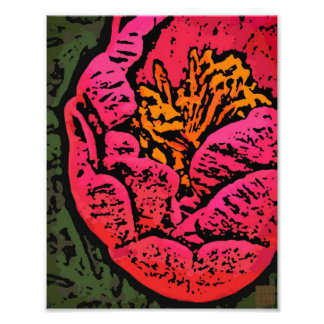 Flower Power in Red and Yellow Art Photo