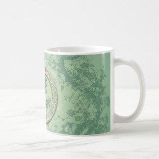 Flower power in soft green colors coffee mug