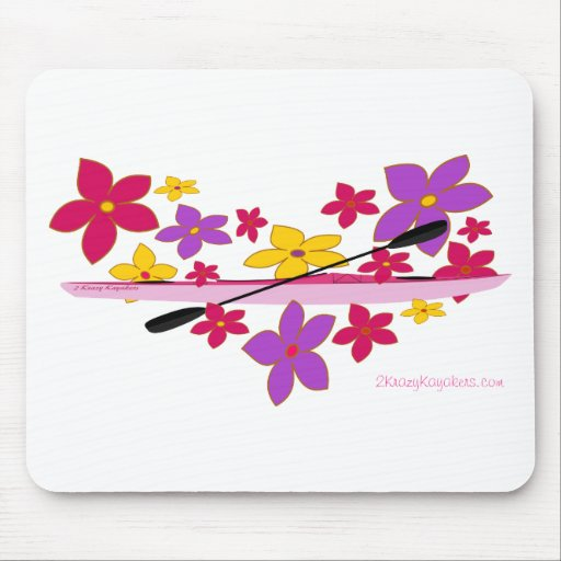Flower Power Kayak Mouse Pads