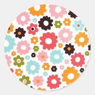 flower power(kkincade12) classic round sticker