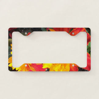 Flower Power license plate holder