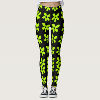 Flower-Power-Lime-Daisies(c)_XS-XL_Leggings_ Leggings
