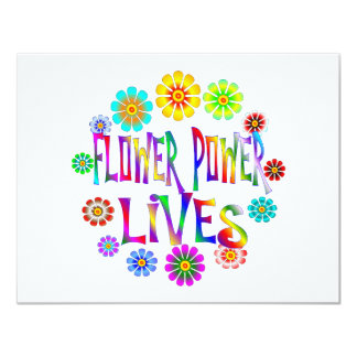 Flower Power Lives 11 Cm X 14 Cm Invitation Card
