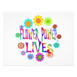 Flower Power Lives Personalized Invitation