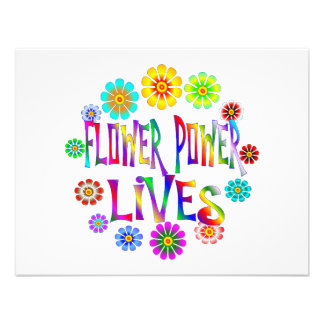 Flower Power Lives Personalized Invitations