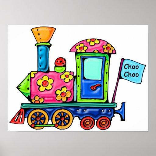 Flower Power Locomotive