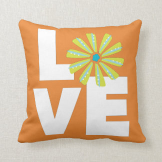 Flower Power Love Pillow