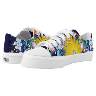 Flower Power Low Top Shoes Printed Shoes
