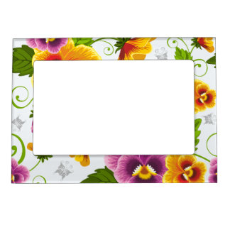 Flower Power Magnetic Picture Frame