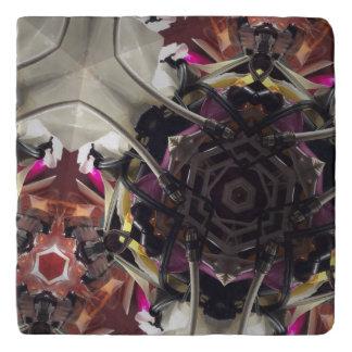 Flower power natural explosion trivet