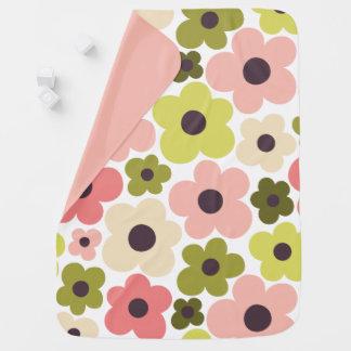 Flower Power Pattern Baby Blanket