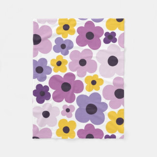 Flower Power Pattern Fleece Blanket