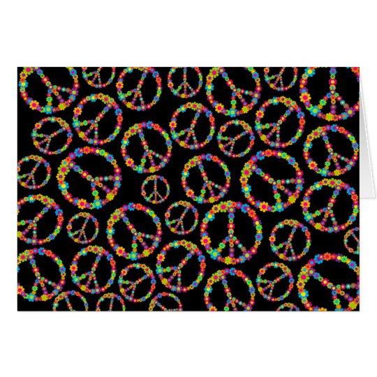 Flower Power Peace Card