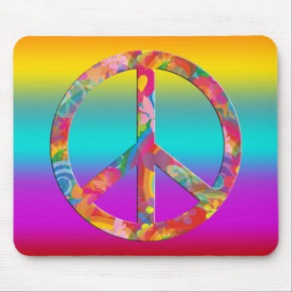 Flower Power Peace | coloured lines Mouse Pads