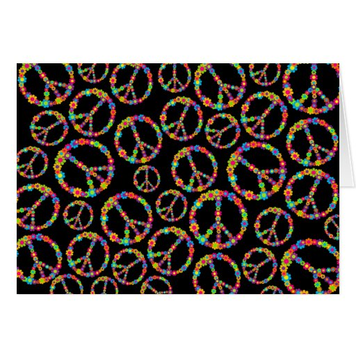 Flower Power Peace Greeting Card