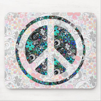 Flower Power Peace II | light Mouse Pads