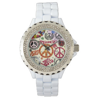 Flower Power Peace & Love Hippie  Watch
