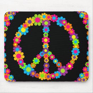 Flower Power Peace Mouse Mat