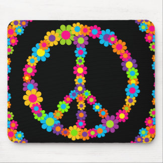 Flower Power Peace Mouse Pad