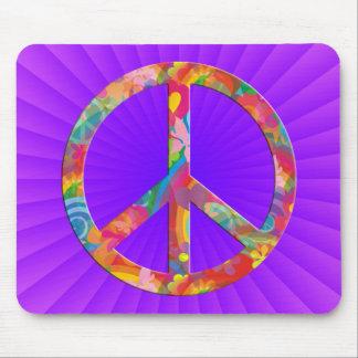 Flower Power Peace | royalpink shine Mousepads