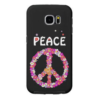 Flower Power Peace Sign Samsung Galaxy S6 Cases