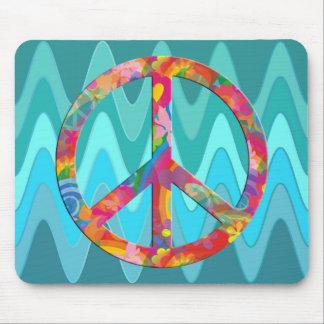 Flower Power Peace | sinus ocean Mousepad