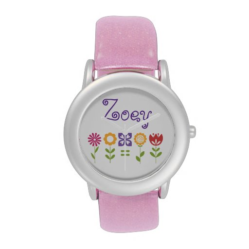 Flower Power Personalized Watch