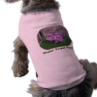 Flower Power Puppy Doggie Tshirt