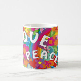 Flower Power Rainbow Coffee Mug