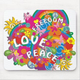 Flower Power Rainbow Mousepad