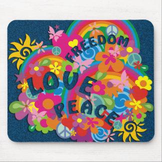 Flower Power Rainbow Mousepads