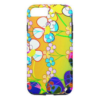 Flower Power Retro Pansies iPhone 7 Case