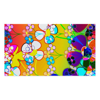 Flower Power Retro Pansies Pack Of Standard Business Cards