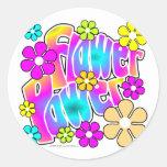 Flower Power Round Sticker