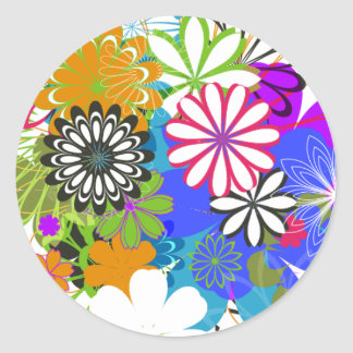 Flower Power! Round Sticker