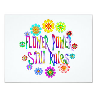 Flower Power Rules 11 Cm X 14 Cm Invitation Card