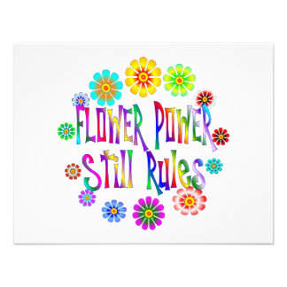 Flower Power Rules Invitations