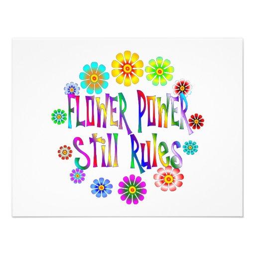 Flower Power Rules Invitations