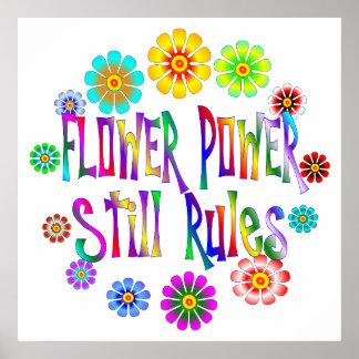 Flower Power Rules Poster