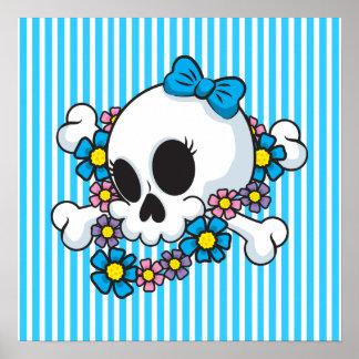 Flower Power Skull Print