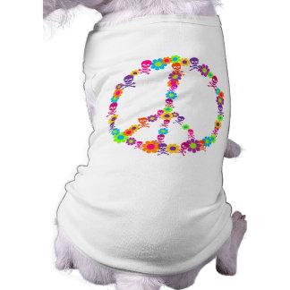 Flower Power Skully Peace Shirt
