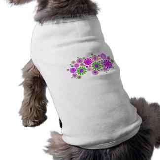 Flower Power Sleeveless Dog Shirt