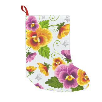 Flower Power Small Christmas Stocking
