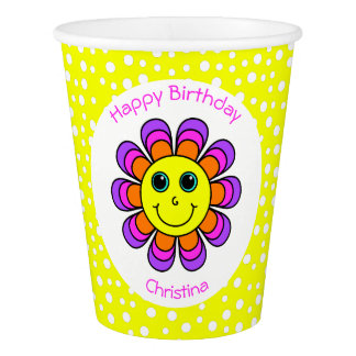 Flower Power Smiley Face Birthday Party