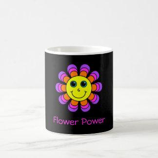 Flower Power Smiley Face Coffee Mug