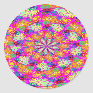 FLOWER POWER STICKERS - PSYCHEDELIC - GROOVY TIMZ