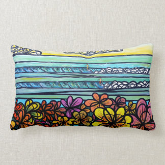 Flower Power Surf Cotton Pillow