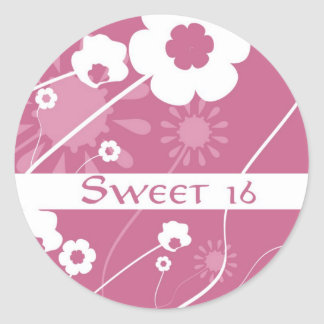 Flower Power Sweet 16  Stickers