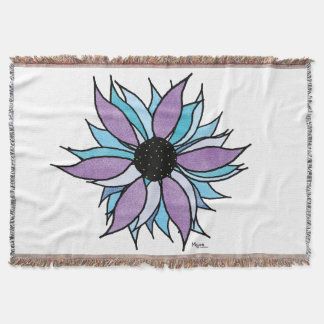 Flower Power Throw Blanket